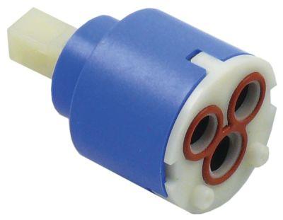 δοχείο κεραμικό ø D1 35mm ø D2 23,5mm άξονας 9x9mm mm H1 27,4mm H2 37,5mm H3 56mm