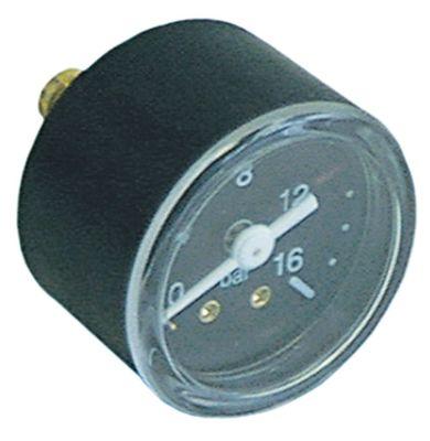 μανόμετρο ø 42mm εύρος πίεσης 0 έως 16bar σπείρωμα 1/8