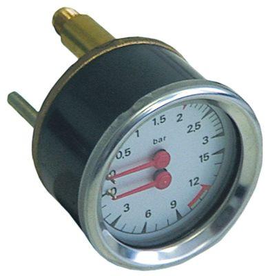 μανόμετρο διπλή κλίμακα ø 63mm εύρος πίεσης 0-3 / 0-15 bar