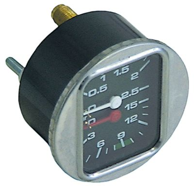 μανόμετρο διπλή κλίμακα ø 63mm εύρος πίεσης 0-2,5 / 0-15 bar