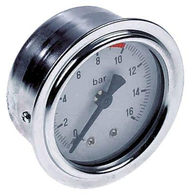 μανόμετρο ø 53mm εύρος πίεσης 0 έως 16bar σπείρωμα 1/8″  σήμανση 8-10
