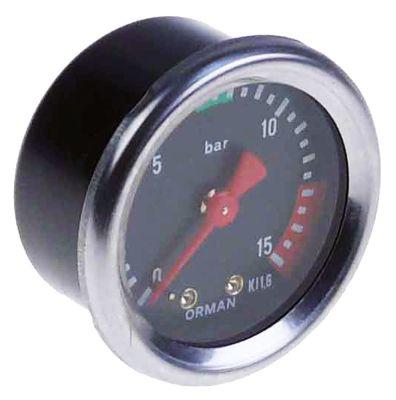 μανόμετρο ø 53mm εύρος πίεσης 0 έως 16bar σπείρωμα 1/8