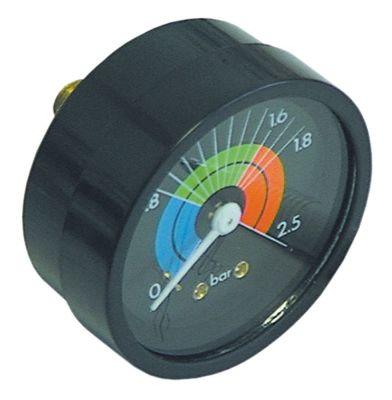 μανόμετρο ø 57mm εύρος πίεσης 0 έως 2,5bar σπείρωμα 1/8
