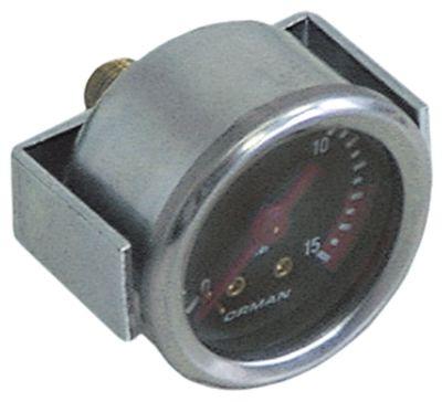 μανόμετρο ø 41mm εύρος πίεσης 0 έως 15bar σπείρωμα 1/8