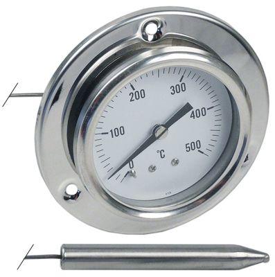 θερμόμετρο ø διάταξης στερέωσης 60mm Μέγ. Θ 500°C 0 έως +500°C ø αισθητηρίου 10mm Μ αισθητηρίου 63mm