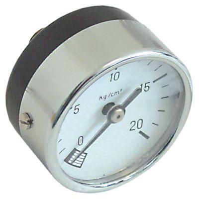 μανόμετρο ø 53mm εύρος πίεσης 0 έως 20bar σπείρωμα 1/4″  σύνδεσμος στην πίσω πλευρά