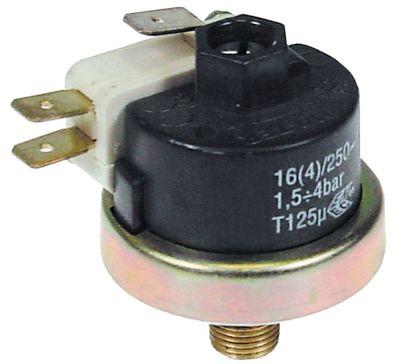 πρεσοστάτης ø 38mm εύρος πίεσης 1,5-4 bar σύνδεση πίεσης, κατακόρυφη προκαθορισμένη στα 3bar