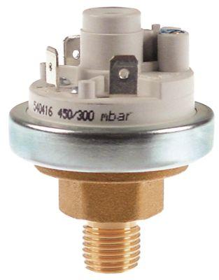 πρεσοστάτης ø 45mm εύρος πίεσης 450/300 mbar σύνδεση πίεσης, κατακόρυφη έλεγχος ατμού