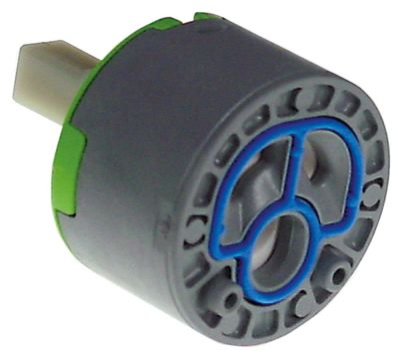 δοχείο κεραμικό ø D1 47mm H1 30,5mm H2 40,5mm H3 62,5mm ø D2 25,8mm με 2 πείρους ασφάλισης