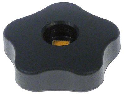 λαβή αστέρι άξονας 9x9 mm ø 74mm Μ 24mm μαύρο πλαστικό