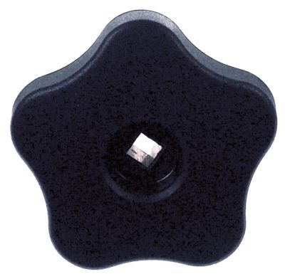 λαβή αστέρι άξονας 7x7 mm ø 72mm Μ 24mm μαύρο πλαστικό