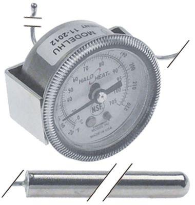 θερμόμετρο ø διάταξης στερέωσης 41mm Μέγ. Θ 105°C 0-105 °C ø αισθητηρίου 9.5mm Μ αισθητηρίου 65mm