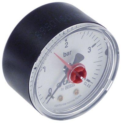 μανόμετρο ø 50mm εύρος πίεσης 0 έως 4bar σύνδεσμος πίσω στο κέντρο σπείρωμα 1/4″