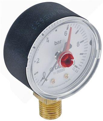 μανόμετρο ø 50mm εύρος πίεσης 0 έως 10bar σύνδεσμος κατώτερο σπείρωμα 1/4″