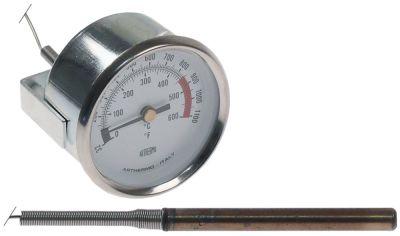 θερμόμετρο ø διάταξης στερέωσης 60mm Μέγ. Θ 600°C 0-600 °C ø αισθητηρίου 8mm Μ αισθητηρίου 80mm