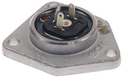 κάλυμμα επινικελωμένος ορείχαλκος H 18mm Μ 47mm W 40mm για παροχόμετρο GICAR