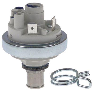 πρεσοστάτης ø 45mm εύρος πίεσης 13mbar με διπλό σφιγκτήρα σύρματος ø σύνδεσης πίεσης 12mm