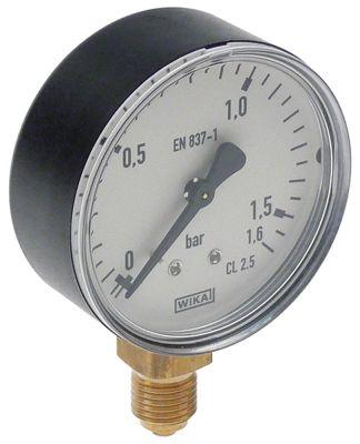 μανόμετρο ø 62mm εύρος πίεσηςbar σύνδεσμος 1/4