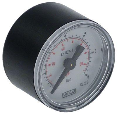μανόμετρο ø 40mm εύρος πίεσης 0-6 bar σύνδεσμος πίσω στο κέντρο σπείρωμα 1/8