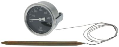 thermometer mounting ø 60mm t.max. 600°C 0-600°C probe ø 8mm probe L 145mm capillary pipe 1000mm