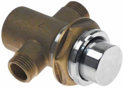 βρύση με αυτόματο κλείσιμο συρόμενη φύσιγγα σπείρωμα 1/2″  H 71mm ca.15 s