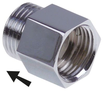 αντεπίστροφο σπείρωμα 1/2″  Μ 17mm Ποσ. 1 τεμ.