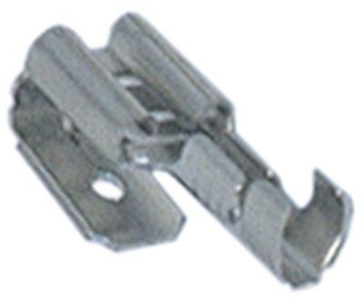 βύσμα σύνδεσης μέγεθος 6,3x0,8 mm 1,0-2,5 mm² ευθύ Fe gal Ni  Μέγ. Θ 340°C Ποσ. 100 τεμ.