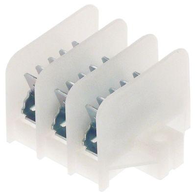 τερματικό μπλοκ διανομής 3-πόλοι μέγ. 17.5A μέγ. 450V σύνδεσμος αρσενικό εξάρτημα 6,3mm