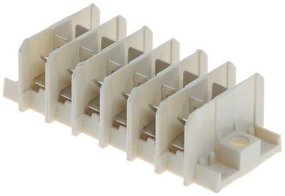 τερματικό μπλοκ διανομής 6-πόλοι μέγ. 16A μέγ. 400V σύνδεσμος αρσενικό εξάρτημα 6,3mm
