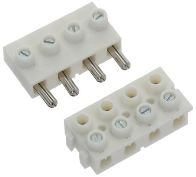 μπλοκ ακροδεκτών plug-in  4-πόλοι μέγ. 16A διατομή 2,5mm²