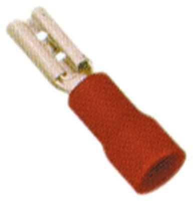 κλιπ μέγεθος 2,8x0,8 mm 0,5-1,5 mm² Ποσ. 100 τεμ. μόνωση PVC  Cu gal Sn  κόκκινο Μέγ. Θ 75°C