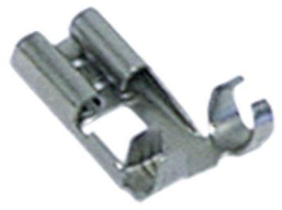 κλιπ μέγεθος 6,3x0,8 mm 1,0-2,5 mm² με γωνία Fe gal Ni  Μέγ. Θ 340°C Ποσ. 100 τεμ.