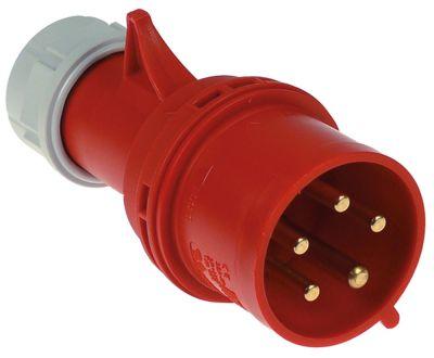 πρίζα CEE  ευθύ 5-πόλοι επαφές 3P+N+PE μέγ. 32A μέγ. 400V προστασία IP44  σφιγκτήρες 2,5-6,0 mm²