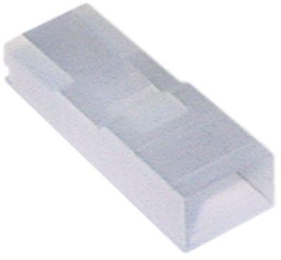 προστατευτικό κάλυμμα 1-πόλοι μέγεθος 6.3mm ευθύ nylon  Μέγ. Θ 120°C Ποσ. 20 τεμ.