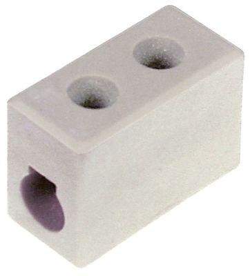 κλέμα πορσελάνης 1-πόλοι 6mm² μέγ. 30A μέγ. 450V Μ 25mm W 12mm H 20mm απόσταση στερέωσης  -mm