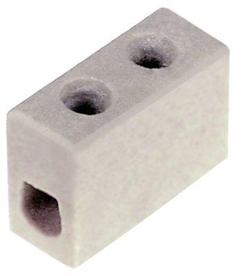 κλέμα πορσελάνης 1-πόλοι 2,5mm² μέγ. 10A μέγ. 250V Μ 20mm W 9mm H 17mm απόσταση στερέωσης  -mm