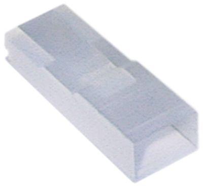 προστατευτικό κάλυμμα 1-πόλοι μέγεθος 2.8mm ευθύ nylon  Μέγ. Θ 120°C Ποσ. 20 τεμ.
