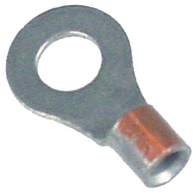 τερματικό δαχτυλίδι χωρίς μόνωση μέγεθος 4,2mm για σπείρωμα M4  1,0-2,5 mm² νικέλιο Ποσ. 10 τεμ.
