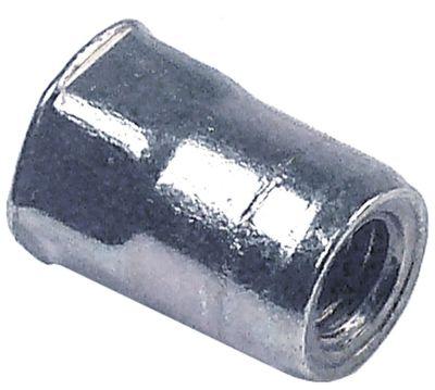 πριτσίνι σπείρωμα M6  DN 10mm Μ 15mm Ανοξείδωτο ατσάλι Ποσ. 1 τεμ.