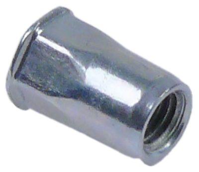 πριτσίνι σπείρωμα M5  DN 7mm Μ 12mm Ποσ. 10 τεμ.