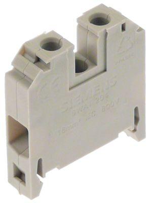 τερματικό που κινείται σε ράγα SIEMENS  τύπος 8WA1204 16mm² beige  1-πόλοι