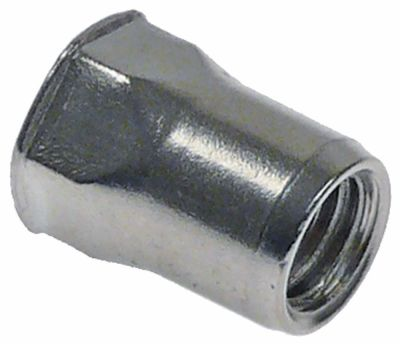 πριτσίνι σπείρωμα M8  DN 11mm Μ 16,4mm Ανοξείδωτο ατσάλι Ποσ. 1 τεμ.