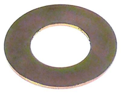 ροδέλες ø αναγν. 10mm ΕΞ. ø 19mm πάχος 0.8mm χάλυβας Ποσ. 1 τεμ.