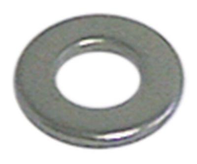 ροδέλες ø αναγν. 4.3mm ΕΞ. ø 9mm πάχος 0.8mm Ανοξείδωτο ατσάλι Ποσ. 20 τεμ. DIN 125A