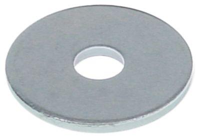 ροδέλες ø αναγν. 10,6mm ΕΞ. ø 40mm πάχος 3mm χάλυβας με επίστρωση ψευδαργύρου Ποσ. 1 τεμ.