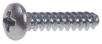 βίδα ø 3,7mm Μ 20mm Ανοξείδωτο ατσάλι Ποσ. 1 τεμ. ø κεφαλής 7mm