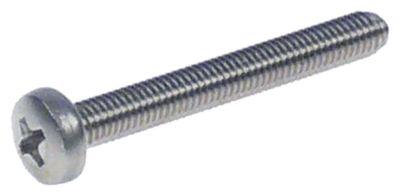 βίδες σπείρωμα M5  Μ σπειρώματος 40mm Ανοξείδωτο ατσάλι DIN 7985/ISO 7045  Ποσ. 20 τεμ.