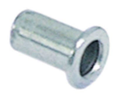 πριτσίνι αλουμίνιο σπείρωμα M4  ø 6mm Μ 8mm για πάχος φύλλου 0,5 έως 2mm Ποσ. 10 τεμ.