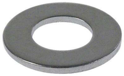 ροδέλες ø αναγν. 10,5mm ΕΞ. ø 20mm πάχος 1mm χάλυβας με επίστρωση ψευδαργύρου Ποσ. 1 τεμ.