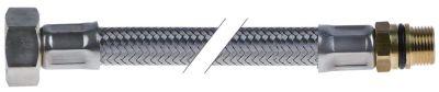 σωλήνας εύκαμπτος Ανοξείδωτο ατσάλι DN10  συνδέσεις 1/2″ - M14x1  Μ 600mm πίεση λειτ. 10bar